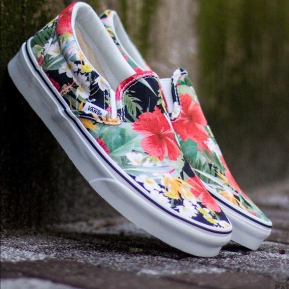 Vans Shoes | Vans Aloha Slip On Sz 7 | Poshmark